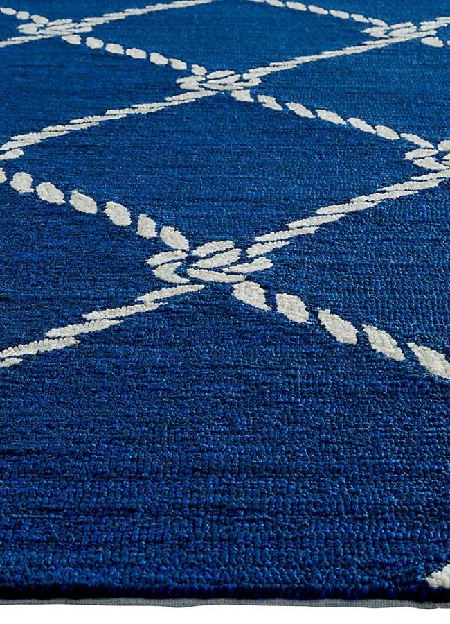 Nautical Knots Blue Navy Blue