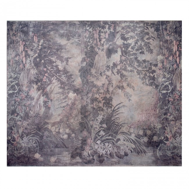 Entire wall mural chinoiserie white garden for Chinoiserie wall mural