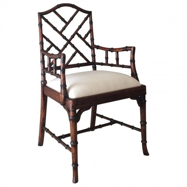 Home Charlotte Chinese Chippendale Dining Chairs (Side and Arm)