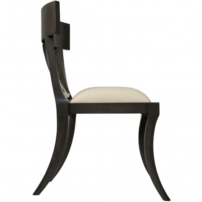 Klismos Chair Dining Chair Ebony Dusk Gray
