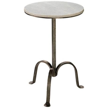 Gunmetal round marble side table for Round marble side table