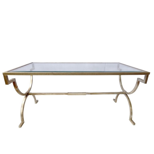 Classic Iron Silver Leaf Coffee Table