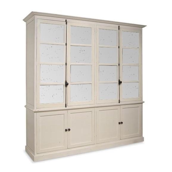 Inga Swedish Four Door Tall Bookcase Cabinet