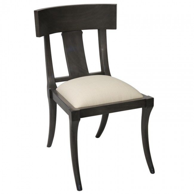 Klismos Chair Dining Ebony Dusk Gray