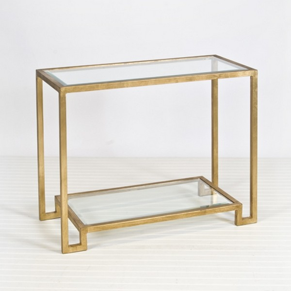 Ordinaire ... Double Shelf Glass Console Table. Zoom