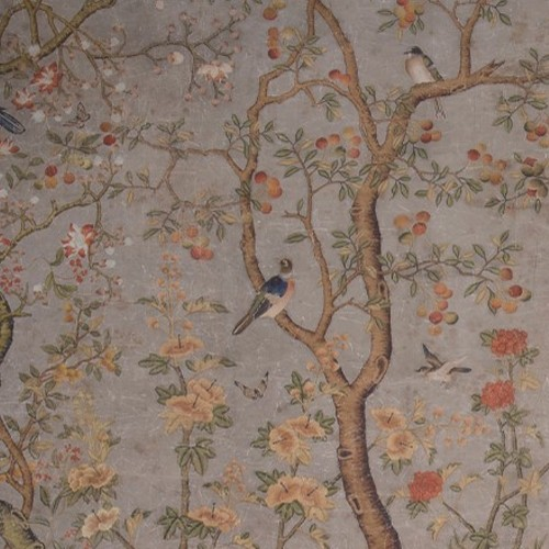 Entire wall mural chinoiserie ming garden for Chinoiserie wall mural