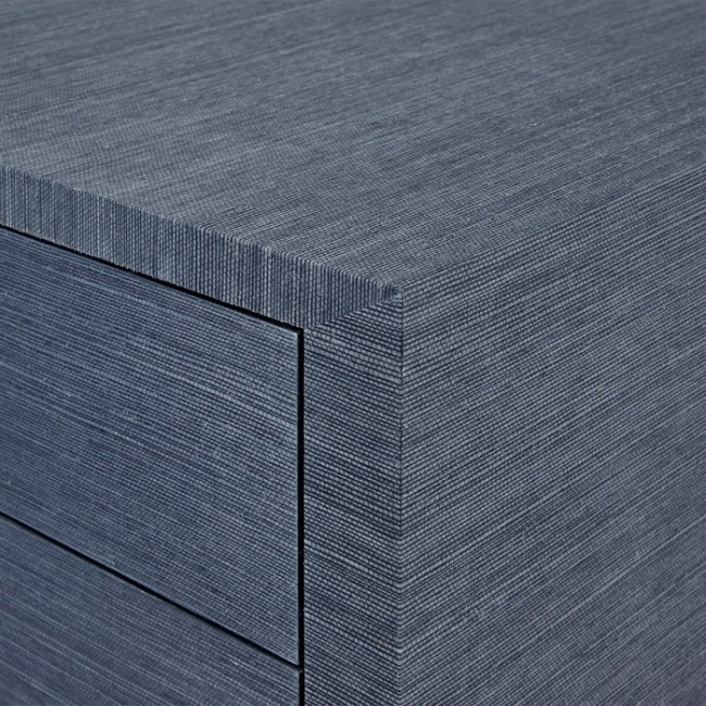 Dining Out In Your New Navy Blue Dining Room: Navy Blue Lacquered Grasscloth Chest