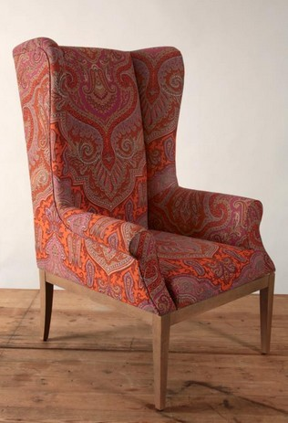 Paisley Jaipur High Back Wing Chair