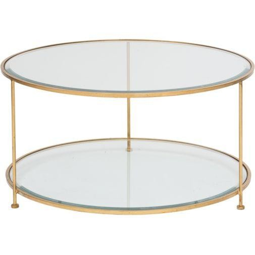 Circular Gold Glass Coffee Table: Pimlico Round Gold Luxury Coffee Table