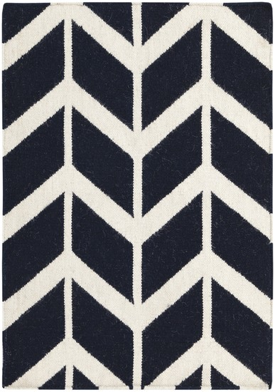 Birds Of A Feather Geometric Pattern Wool Rug