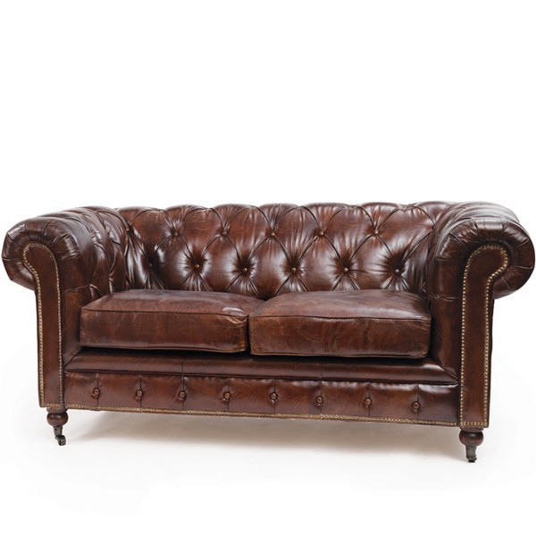 vintage leather chesterfield sofa. Black Bedroom Furniture Sets. Home Design Ideas