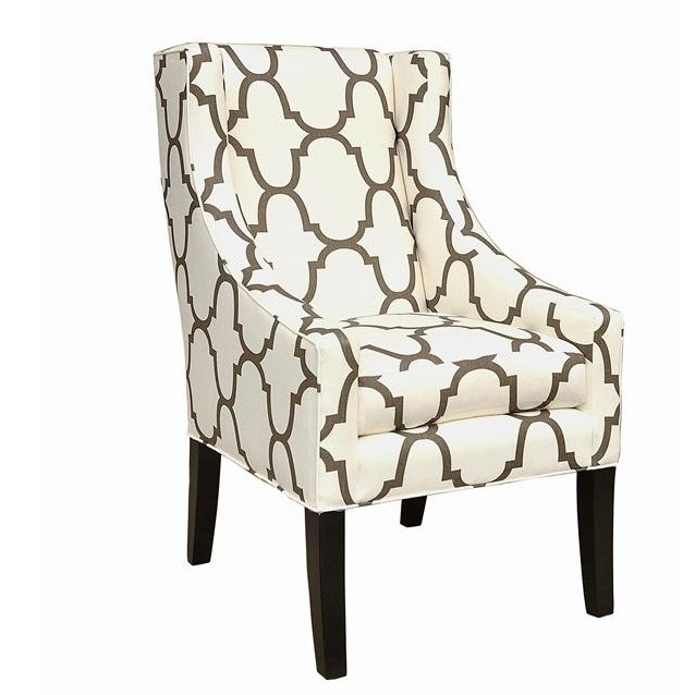 Moroccan Themed Accent Chair: Moroccan Upholstered Wing Chair