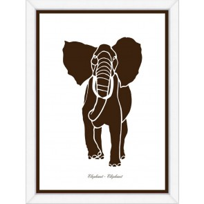 Brown Elephant Silhouette