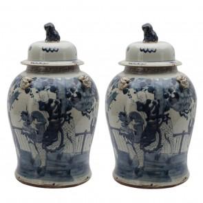 "22"" Ming Jars"