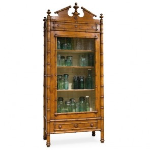 French Bamboo Cabinet Armoire