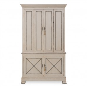 Hand Painted Swedish Pine Cabinet