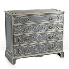 Gustavian Helena Luxury Chest Robin's Egg Blue  (NEW!)