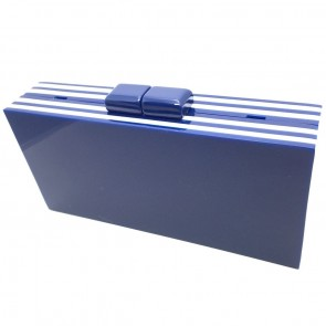 Navy Blue and White Clutch New!