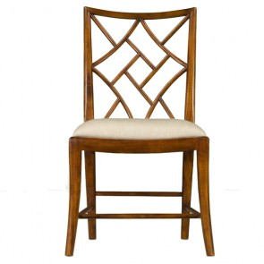 Brown Cockpen Chinese Chippendale Dining Chair