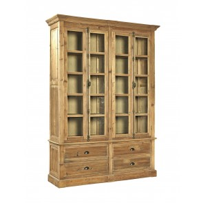 Anston Reclaimed Pine Library Double Cabinet Vitrine SPRING SALE