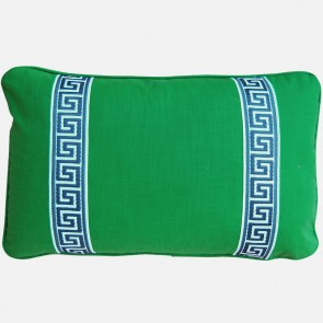 Greek Key Luxury Pillows Green