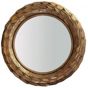 Athens Leaf Mirror Gold