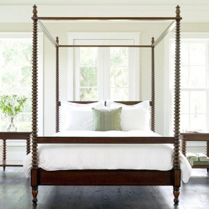 Beacon Hill Spool Post Convertible Canopy Bed