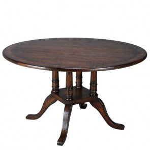 Luxury Birdcage Walnut Round Dining Table