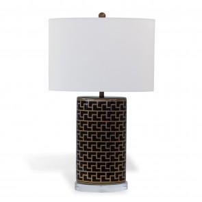 Geometric Greek Style Black Gold Lamp