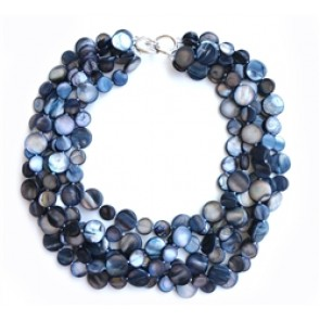 Mother Of Pearl Necklace Blacks (colors and sizes)