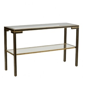 Black and Gold Draper Console Table