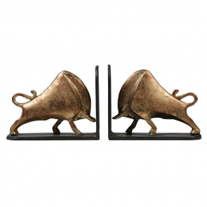 Bisoni bookends Gold Leaf Cast Iron