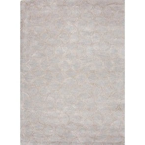 Plush Moroccan Tile Luxury Rug Blue Gray and Tan