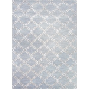 Plush Moroccan Tile Luxury Rug Sky Blue (CLEARANCE)