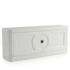 Brookville Lacquer Cream White Sideboard Buffet