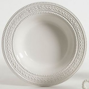 White Ceramic Serving Bowl