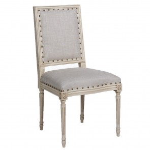 Cream Gray Side Chair