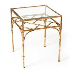 Gold and Glass Chinese Chippendale Table