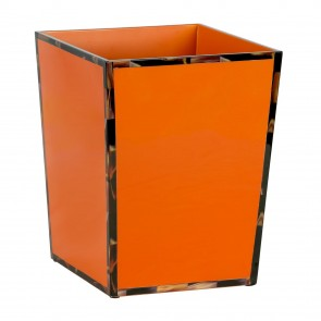 Orange Tortoise Rim Waste Basket Tortoise