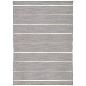 Nantucket Wool Striped Gray Rug