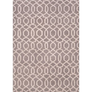 Gray Plush Wool Luxury Rug Garden Gate (CLEARANCE)