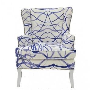 Custom Fabric Wing Club Chair (Custom Luxury)