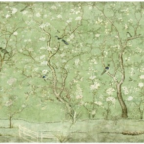Entire Wall Wallpaper Emerald Ming Garden Scene 20ft