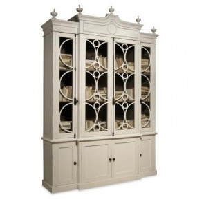 Marseilles Empire Wall Cabinet Antique White