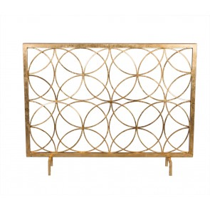 Encircled Gold Fireplace Screen