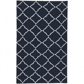 Moroccan Palace Gate Rug Navy