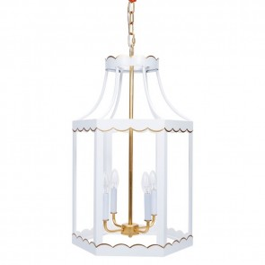 Lilly White Gold Scalloped Lantern (new)