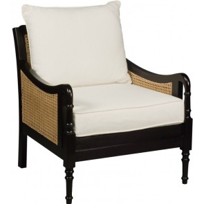 Harbour Island Ebonized Cane Club Chair (Colors)