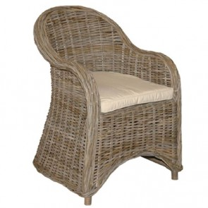 Isola Natural Gray Woven Kubu Chair (NEW)