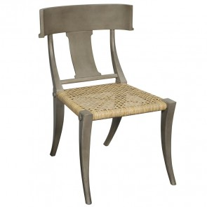 Klismos Rattan Chair Dining Chair (Dusk Gray)